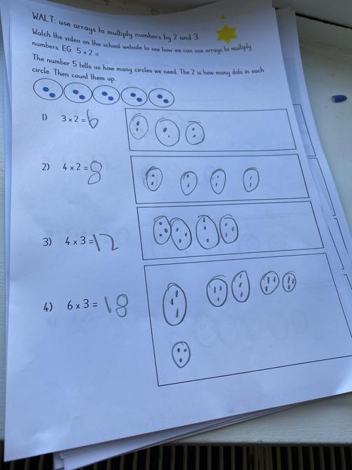 Some of Ruby's outstanding maths work!