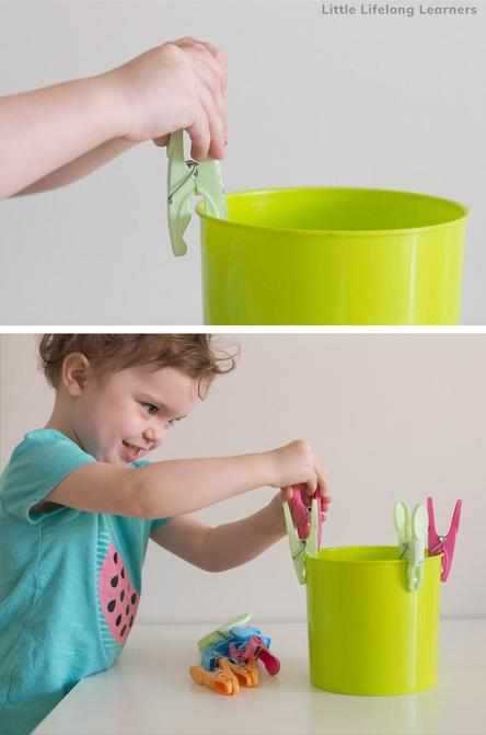 Can you attach some pegs to a plastic bowl or cup?