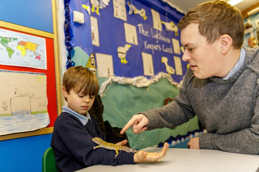 'I love animals and I always visit Mr Day's gecko in his classroom.'