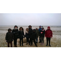 On the snowy beach at Jurmala