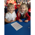 Migle and Keira enjoyed playing this maths game