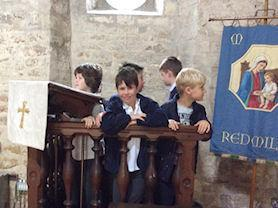 Here we are learning about the church and special artefacts.