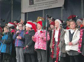 Singing at the Melton Switch on.