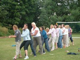 Family Fun Fete: Mums showing the Dads how it's done!