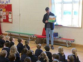 Author Grant Koper sharing his book, 'The Day Granny's Knickers Blew Away'.