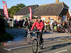 More cyclists off on their way, taking on the Viking Challenge.
