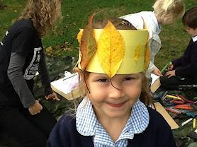A leafy hat.