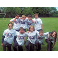 Year 6 in their special t-shirts