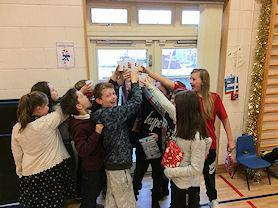 A 'cheers!' from our Year 6.