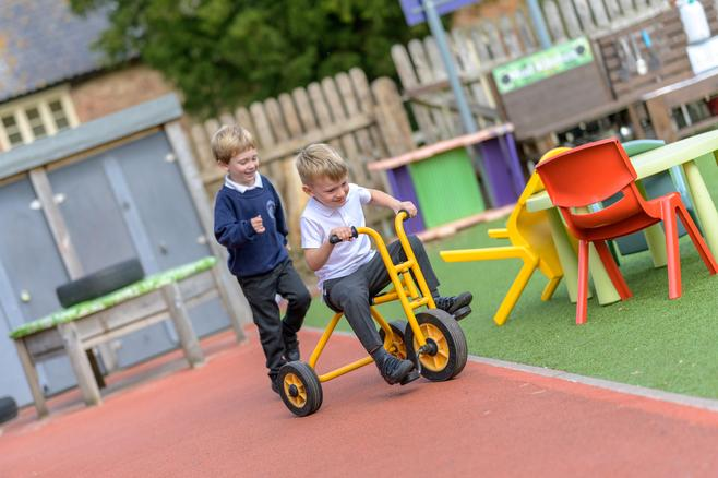 Class 1 outdoor learning area