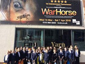 Class 4 went to see the amazing tour of War Horse in Nottingham.
