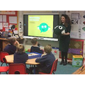 Kathryn advising the children about staying safe.