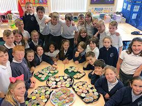 Class 3 made cakes.