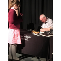 Faith gets a book signed by Andy Mulligan