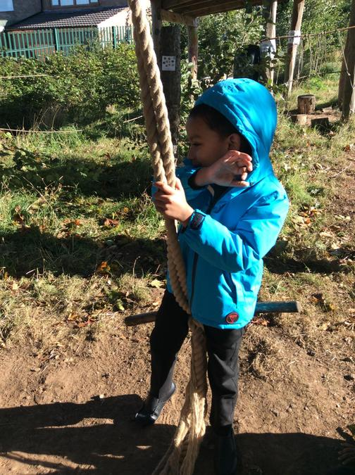 Every Friday children from the Hub in Year 1 learn through outdoor education.