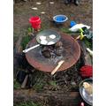 Pancake day on an open fire!
