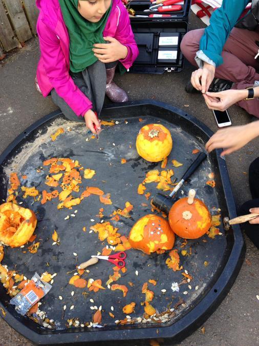 Pumpkin carving - after school club