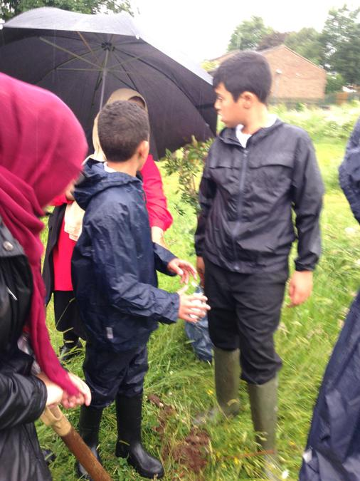 Tree planting with Swanshurst School