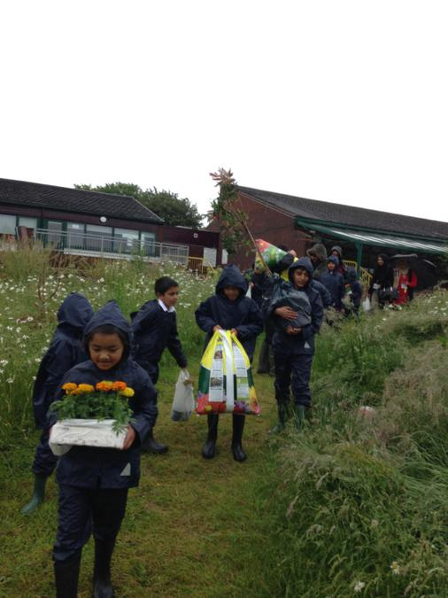 The weather didn't stop the School Council