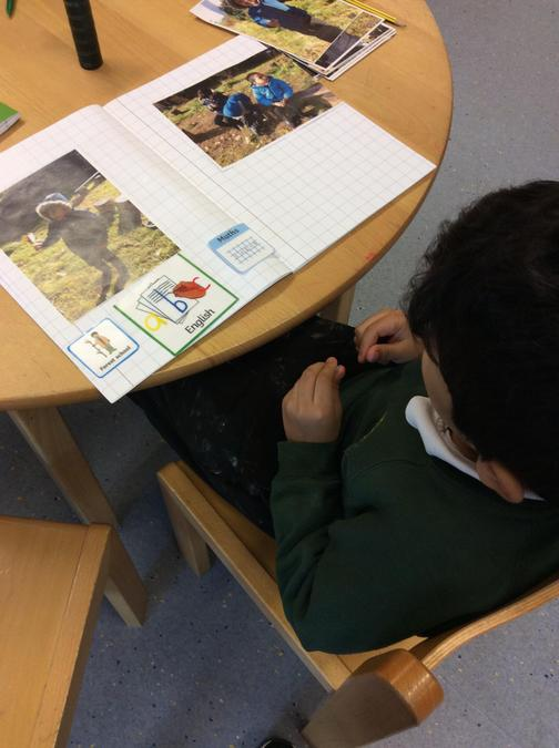 After Forest school on a Friday we talk and write about what we have learnt.