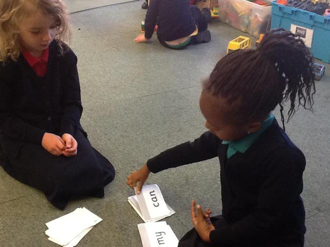 learning our high frequency words by playing snap