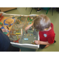 Reception Class playing with their zoo.