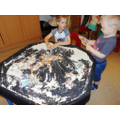Messy 'Under the Sea' playtime in Pre-school!