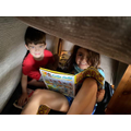 Archie & Martha's den, reading their Beano books!
