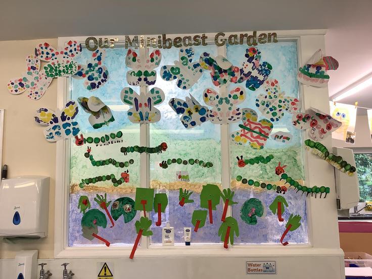 Our minibeast garden display