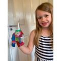 Francesca created a lovely Elmer.
