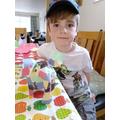 Elmer complete - a lovely patchwork elephant.