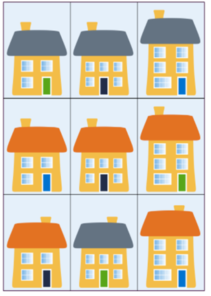 How could you sort these houses into groups?