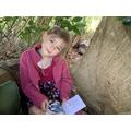 Katie created a lovely outdoor den in her garden.