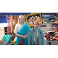 Wearing traditional Hindu clothing.