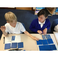 Comparing decimal numbers with tenths.