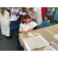 Making our Greek Masks.
