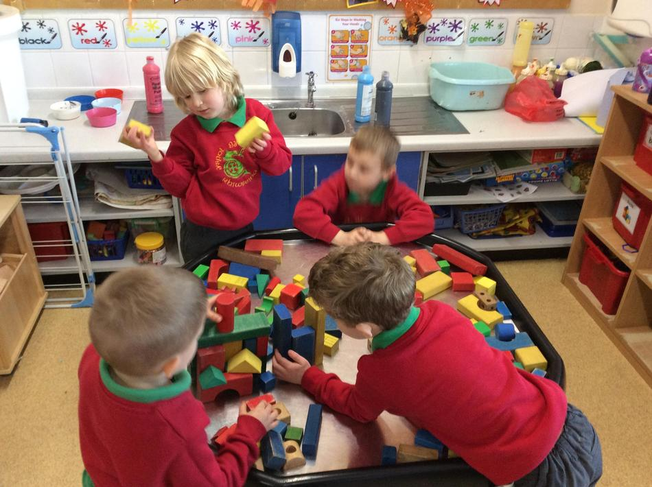We made our own underwater city using the small world!