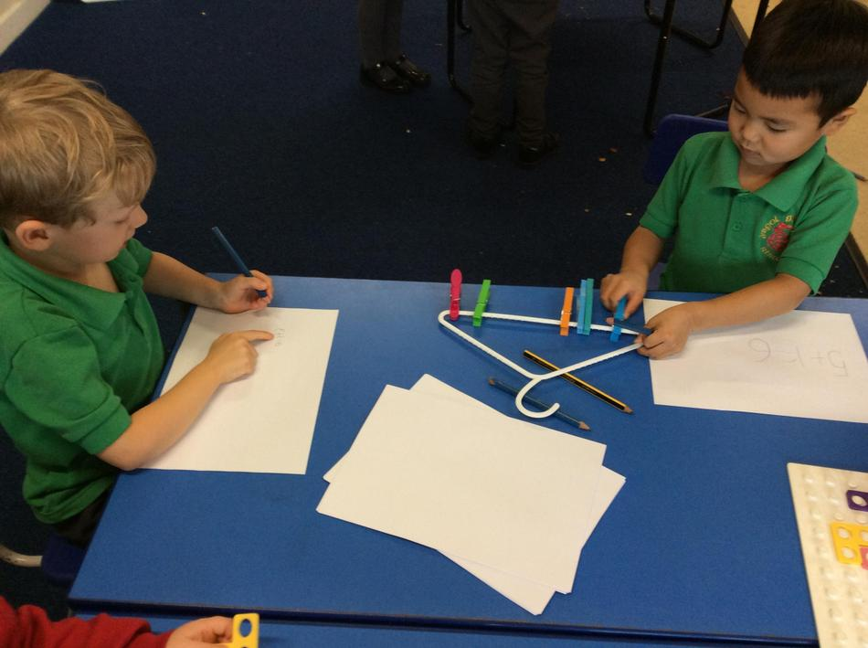 Making 6 and writing as number sentences - wow!