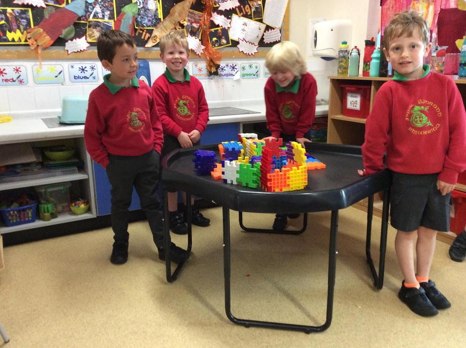 We made an amazing castle today!