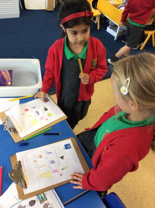 We went on a colour walk and even made our own 'What Am I?' game with our findings!