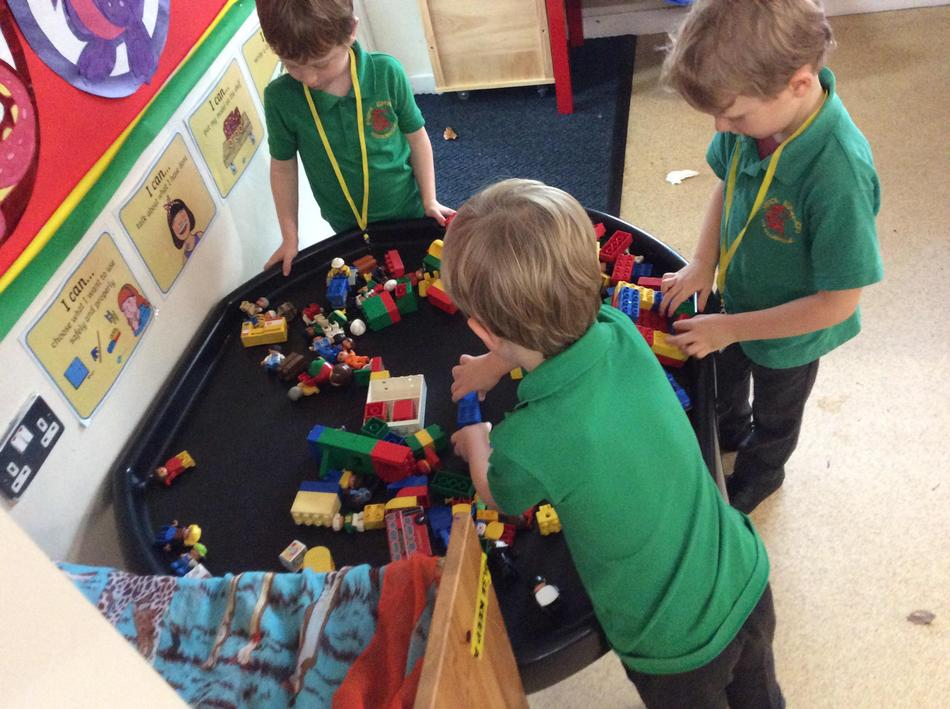 We started exploring patterns with the duplo