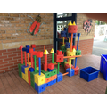 We worked co-operatively to build this castle.