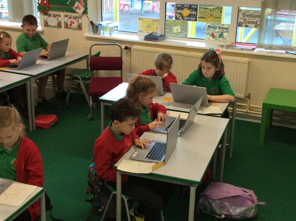Today we are using Chromebooks...