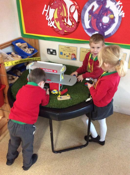 We explored the cars and car park to find one more and one less!