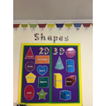 We are learning the difference between  2D and 3D shapes