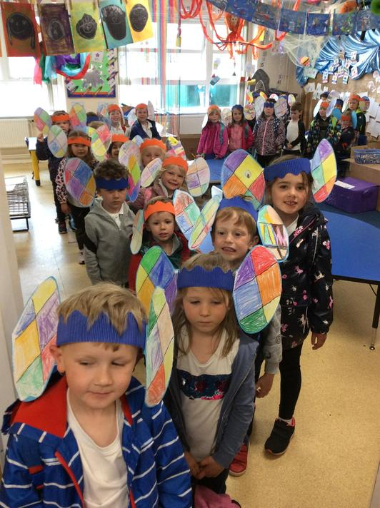 A class of Elmer's ready to go on parade home!
