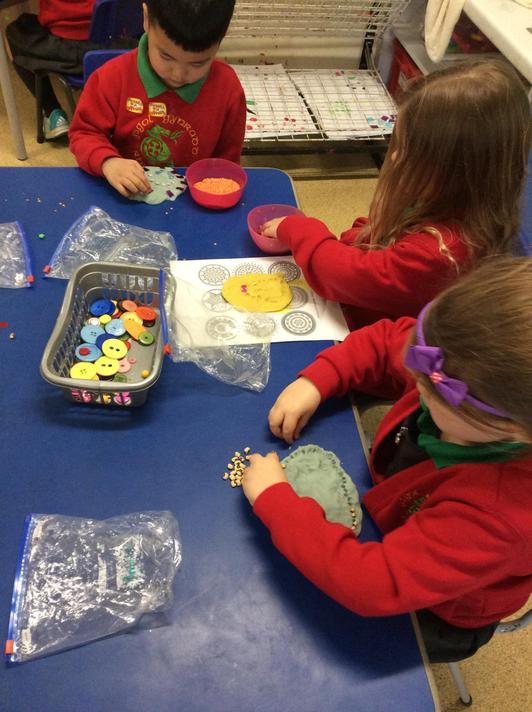Mrs Addicott gave us beads to use too!