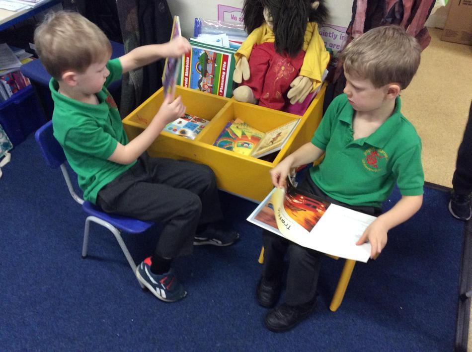 Our reading corner is always popular.
