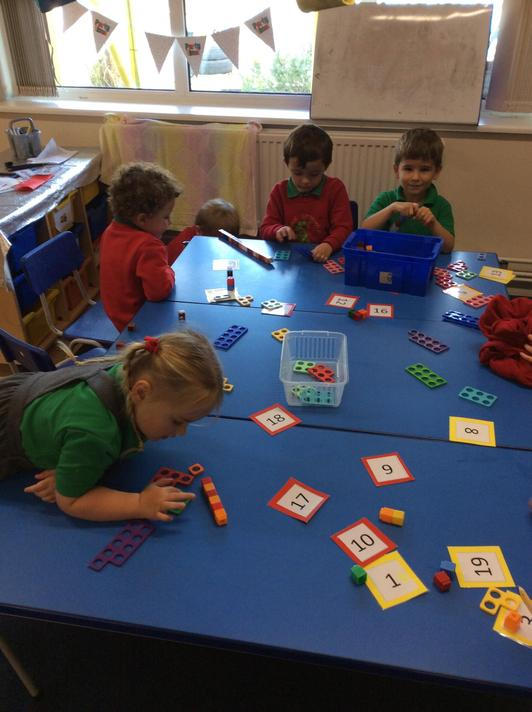 We have been working hard and getting ourselves familiar with Numicon, counting