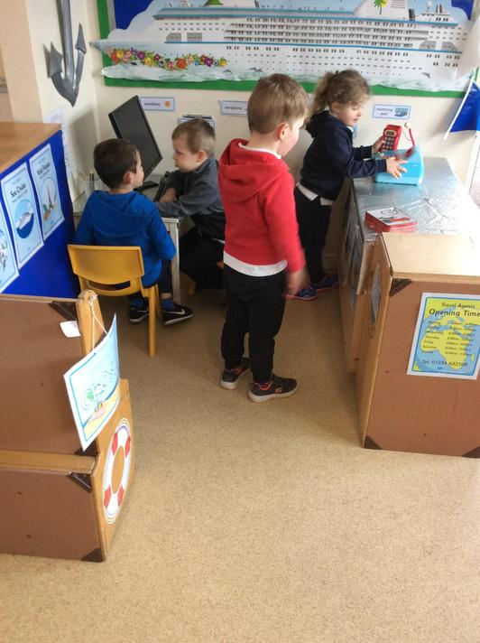 Our travel agents has moved! We love it's new space in the classroom!